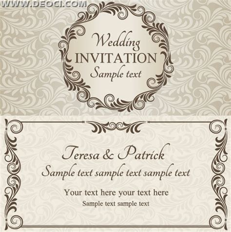 wedding invitation card design vector free download wedding cards design templates free download wblqual com