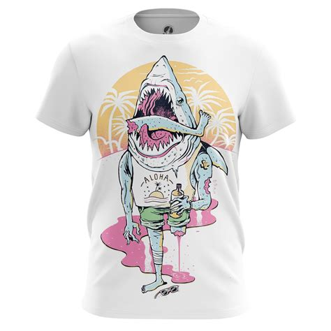 T Shirt Kaos Cozmeed Animal Shark mens t shirt aloha animals sharks idolstore
