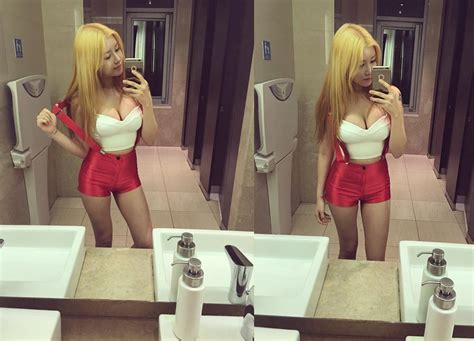 hot girls in the bathroom soyoon of pocket girls takes a sexy selfie of new outfit in bathroom koreaboo