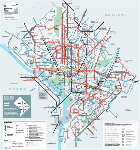map of dc metro washington metro map pdf washington dc map