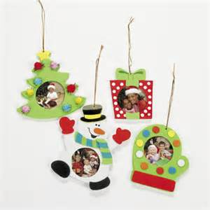 foam christmas photo frame ornament craft kit x 12 mct