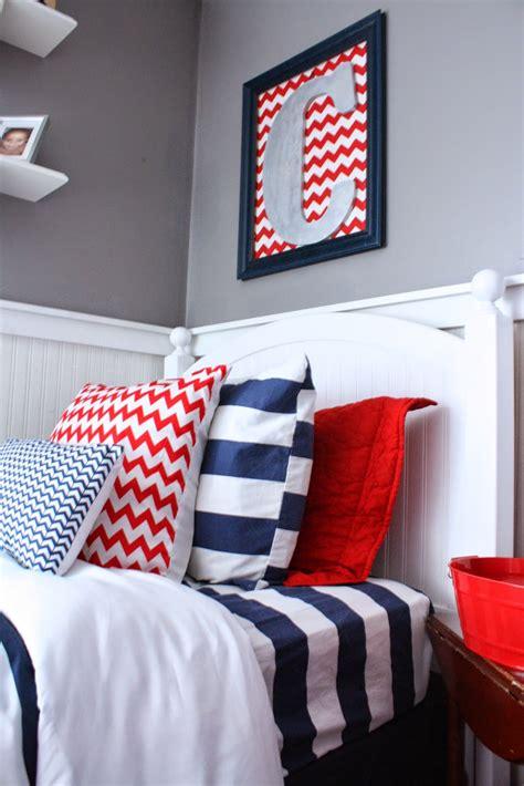 boys blue and red bedroom shared boys room nursery reveal fearfully wonderfully