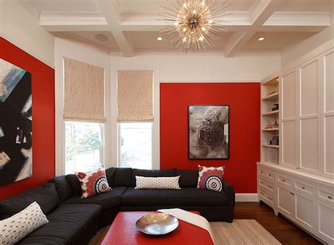 red black white living room living room decor red and black modern house