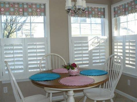 cafe shutters fabric valance shutter blinds privacy lets light home