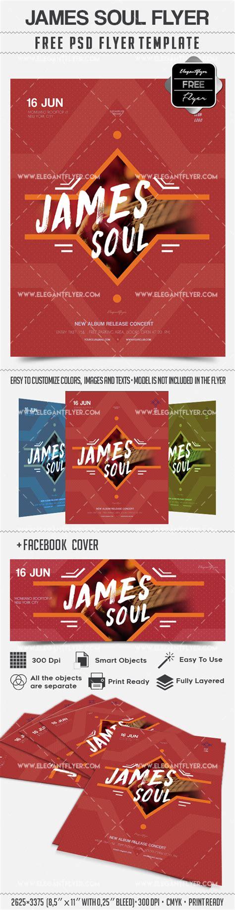James Soul Concert Flyer Psd Template By Elegantflyer Free Concert Flyer Template Psd