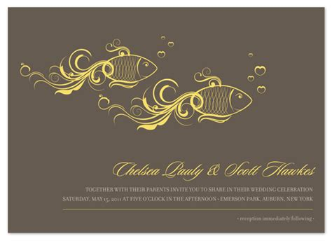fish wedding invitations wedding invitations one fish two fish at minted