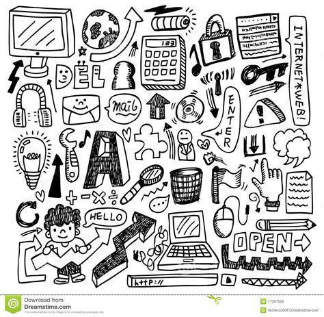 doodle sign up doodle web stock vector illustration of icon enter