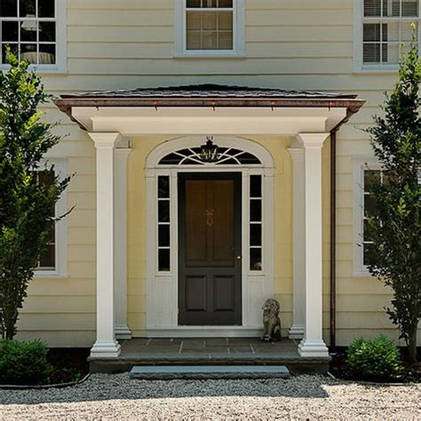 colonial front door designs portico columns design ideas pictures remodel and decor