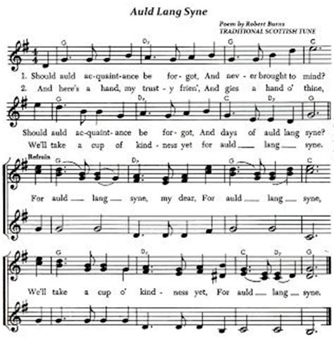 traditional new year songs list auld lang syne lyrics and sheet for the