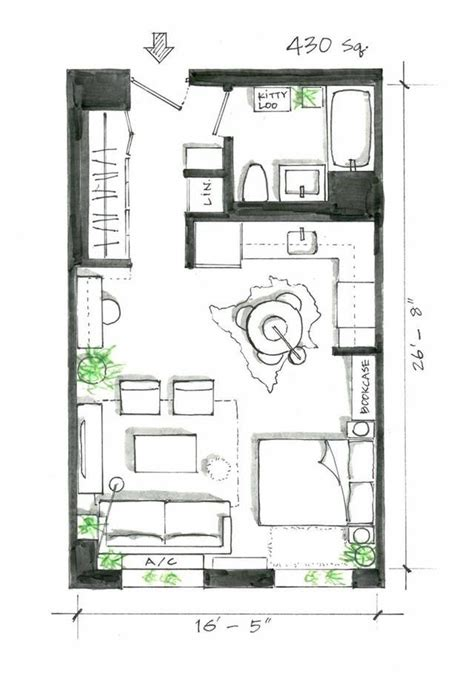 efficient studio layout best 25 studio apartment layout ideas on
