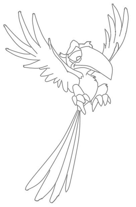 coloring pages zazu zazu lion king character coloring page