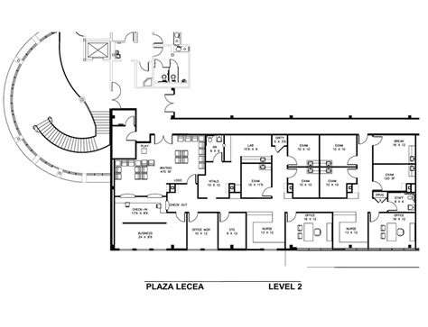 medical office floor plan plaza lecea medical office space for lease in san