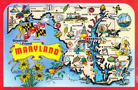 maryland map detailed large detailed tourist illustrated map of maryland state