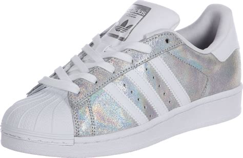 Adidas Silver adidas superstar w shoes white silver