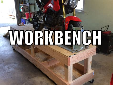 motorcycle bench plans how to build a motorcycle workbench youtube