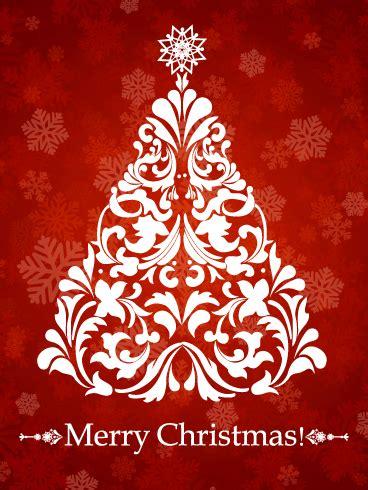 swirl christmas tree card birthday greeting cards  davia