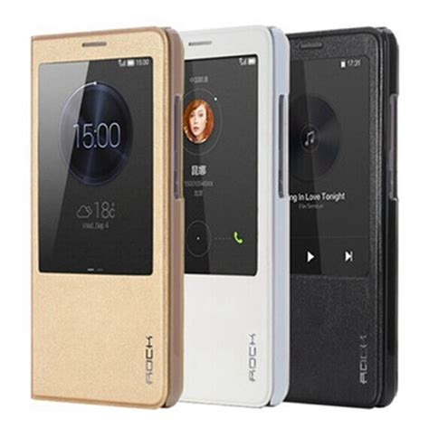 Huawei Ascend P2 Flipcase Flipcover Leather Flip Cover Casing rock smart flip leather for huawei ascend mate 7