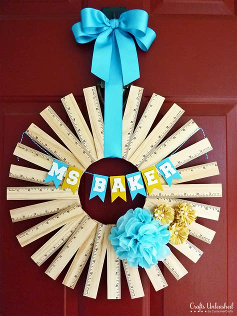 gift ideas for to make gift idea personalized ruler wreath