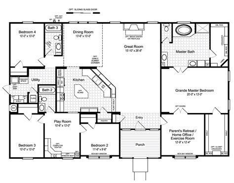best floor plans for homes best 25 mobile home floor plans ideas on