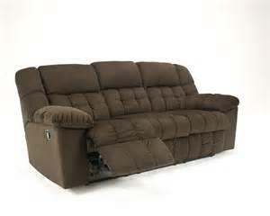 La Z Boy Loveseats 5150288 Ashley Furniture Lowell Chocolate Reclining Sofa
