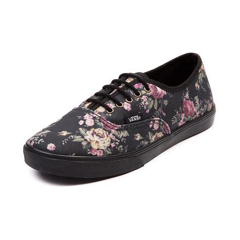 journey sneakers vans authentic lo pro skate shoe black floral journeys