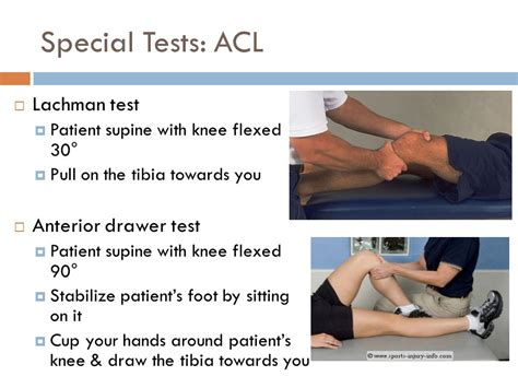Anterior Drawer Test Knee by Anterior Drawer Knee Test Chest Of Drawers