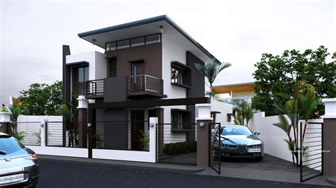 house design with white color contemporary exterior siding small modern house designs two storey design with floor plan