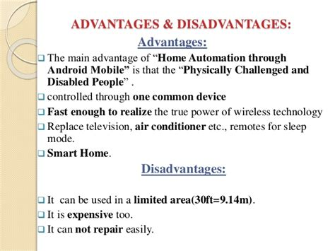 benefits of home automation android based home automation