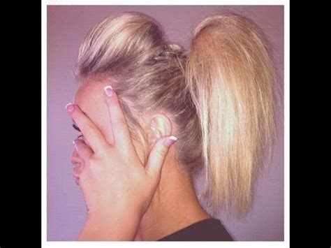 how to do a cheer puffy ponytail hairstyle 25 unique cheerleader hair ideas on pinterest