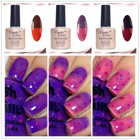 color changing nail in water lover 10ml thermo soak varnish gel varnish
