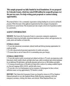 grant template for nonprofit program template printable sle business