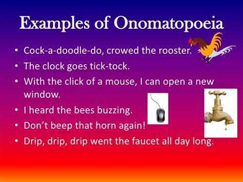 exle of onomatopoeia onomatopoeia