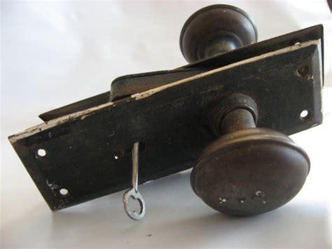 Door Knob Key by Vintage Door Knob Complete With Lock And Key