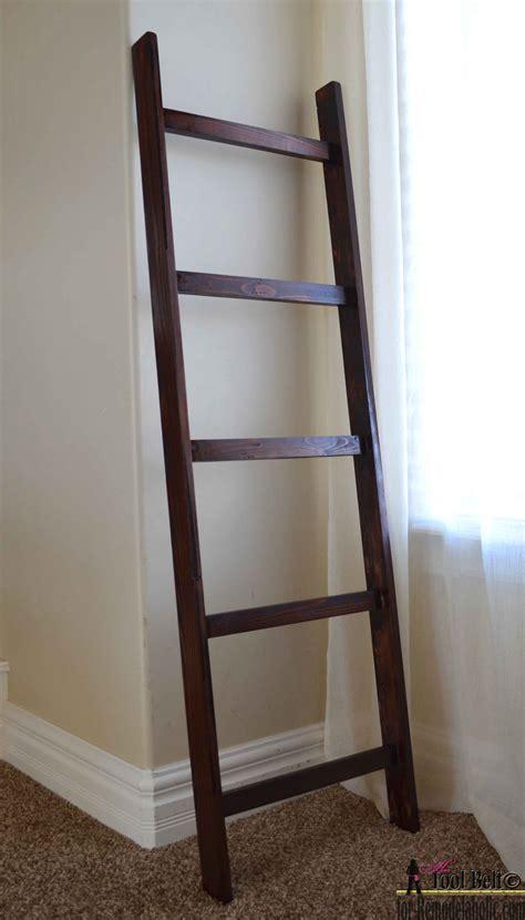 Bathroom Decor Ideas Diy remodelaholic build an easy blanket ladder for just 5