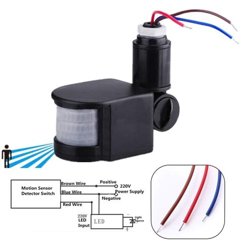 outdoor led infrared motion sensor detector wall