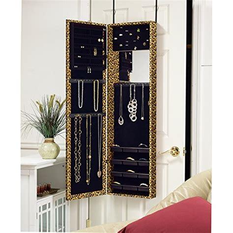over the door jewelry armoire with full length mirror mirrotek plaza astoria over the door wall mount jewelry