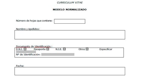 Modelo Curriculum Normalizado Curriculum Vitae Normalizado Aneca Modelo Curriculum