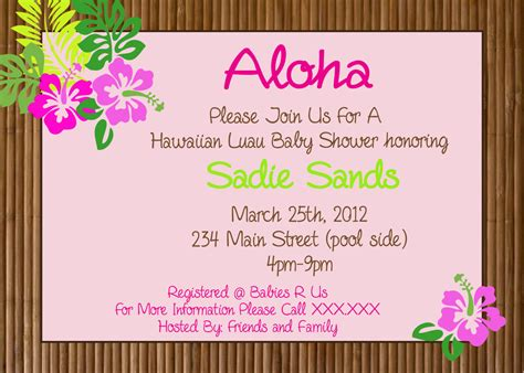 printable invitations hawaiian party hawaiian luau party printable invitation