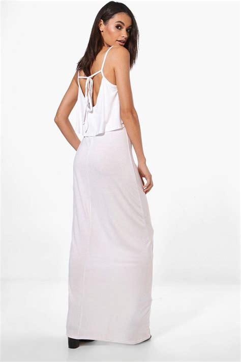 Maxi White Clara clara robe maxi nou 233 e dans le dos