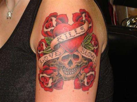 love kills tattoo idea 30 creative break up tattoos designlint