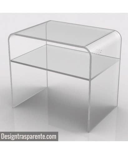 comodini in plexiglass comodino con ripiano 50x40h45 in plexiglass trasparente