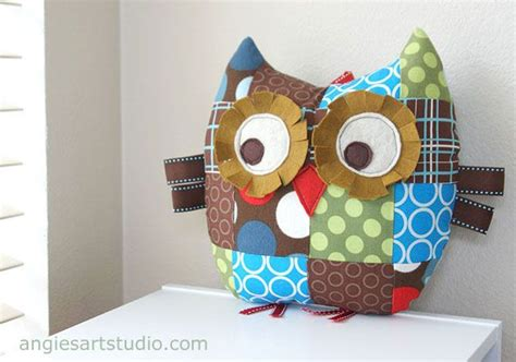 Patchwork Owl Cushion Pattern - 17 best ideas about owl pillow pattern on owl