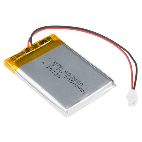 lithium polymer battery charger lithium ion battery 1ah prt 13813 sparkfun electronics