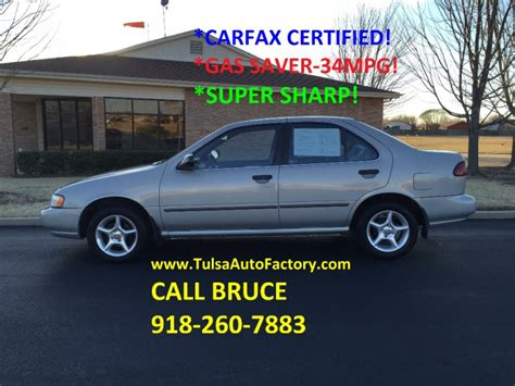nissan sentra gxe sedan silver carfax certified gas saver mpg super clean auto