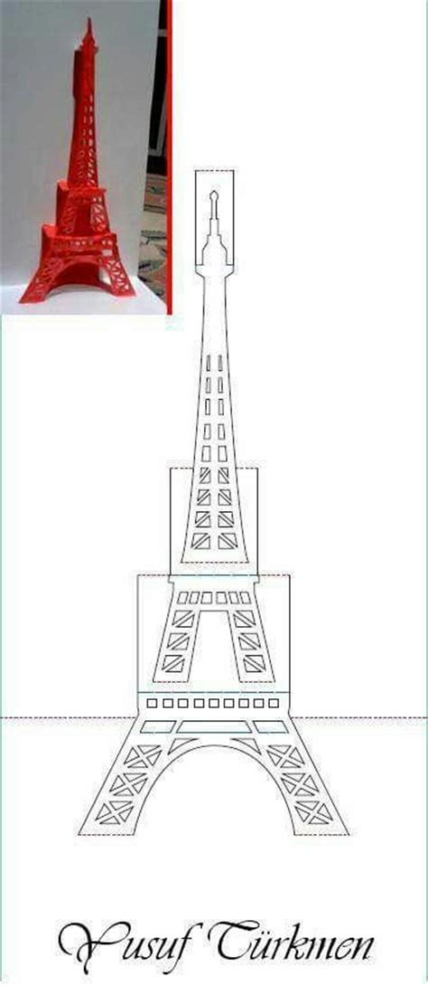eiffel tower pop up card template tour eiffel pop up card pinteres