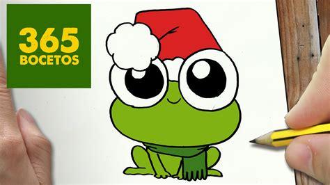 imagenes de ranas bonitas para dibujar como dibujar una rana para navidad paso a paso dibujos