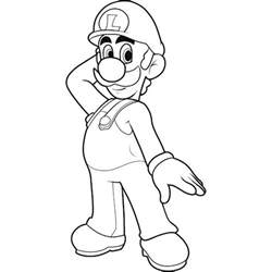 luigi coloring pages mario and luigi coloring pages to print coloring home
