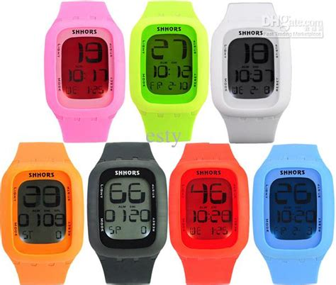 digital rubber st digital screen shhors jelly led touch watches led unisex