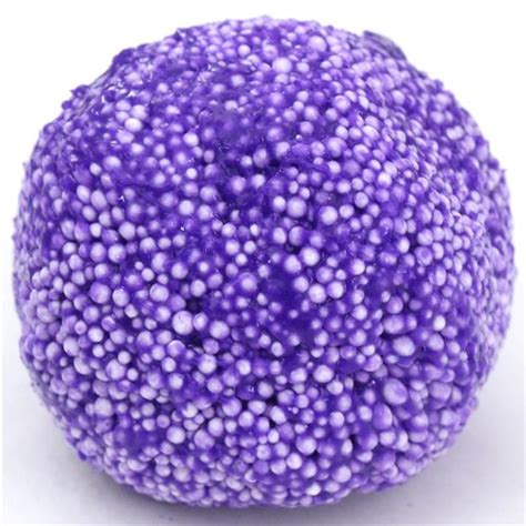 Crunchy Slime Foam Slime purple microbead slime with kawaii floam mud clay jelly diy slime squishies