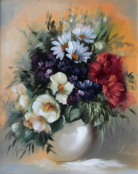 paintings of flowers 20 beautiful bouquet and flower oil paintings by szechenyi